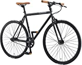 BIKESTAR Bicicleta de Paseo, Single Speed 700C Ruedas 28'   Bici de Carretera Cuadro 53 cm Retro Vintage Bici de Ciudad para Hombres y Mujeres   Negro