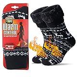 JARSEEN Térmicos de Invierno Calcetines de Lana Super Calor Gruesa Calentar Suave Cómodo Calcetines de Mujer Hombre (Ciervo, L/Hombre 39-45; Mujer 40-45)