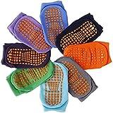 Copiel Niñito Tobillo Calcetines, 8 pares de calcetines antideslizantes para niños, puños de algodón Calcetines cálidos de corte bajo antideslizantes con silicona para bebés de 1 a 3 años