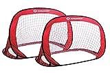 Setde Porterías Pop-Up , 120 x 80 x 80 cm, Autodesplegable, Transportable, Ahorro de Espacio, Ideal para Fútbol, Hockey, en una Práctica Bolsa