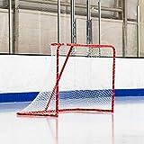 FORZA Portería de Hockey sobre Hielo 1,8m x 1,2m – Postes de Acero con Red (Estándar o Profesional) (Estándar)